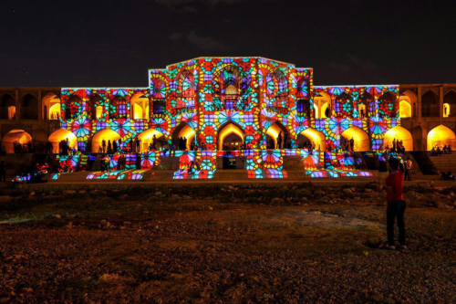 Video Mapping-khaju Bridge-4