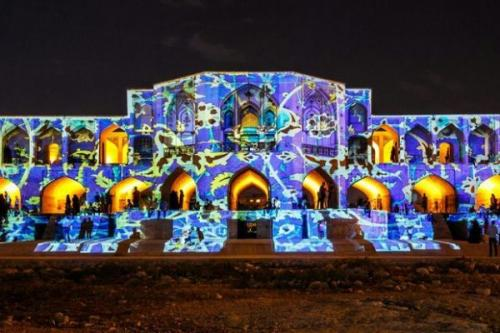 Video Mapping-khaju Bridge-3